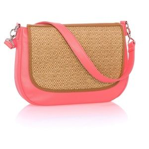 New! thirty-one Classic Coral Pebble Shoulder Bag